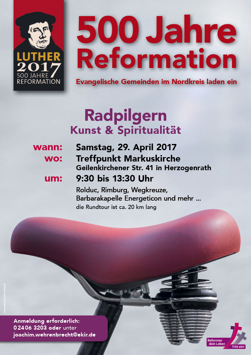 Plakat 500 Luther Radpilgern 2017