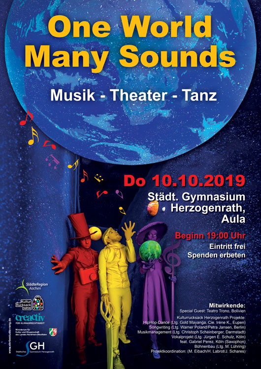 Plakat A2 One World   Many Sounds